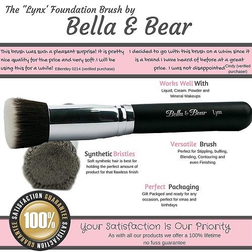 Brocha para aplicar maquillaje líquido Bella & Bear