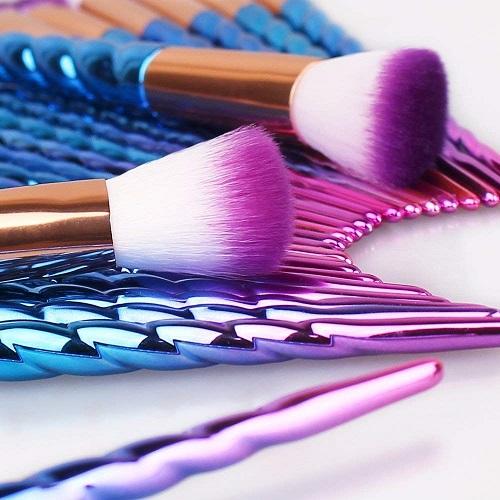 Leeron: set de brochas para maquillaje de unicornio