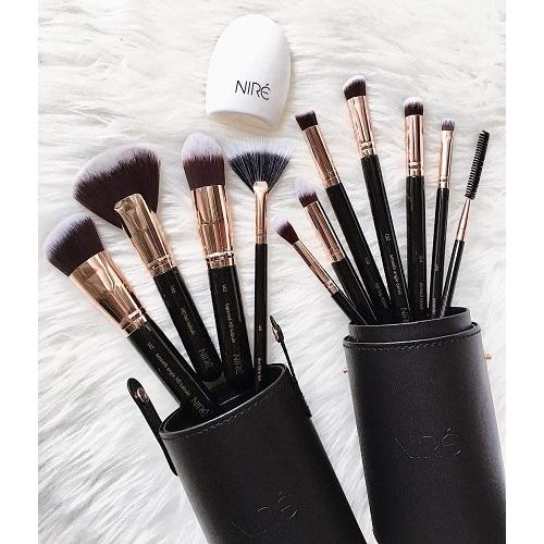 Elije lo mejor, set de brochas de maquillaje Niré