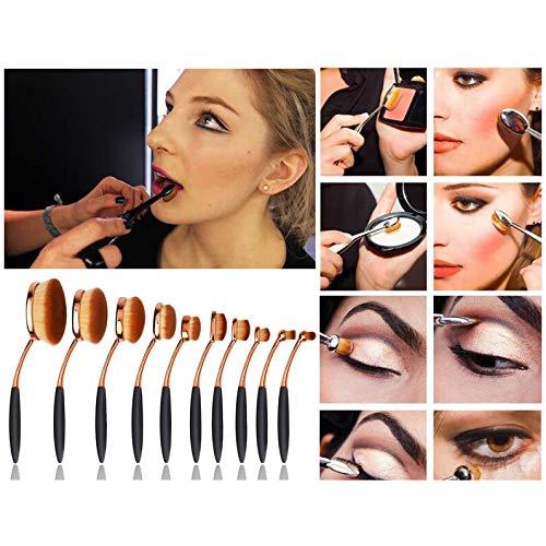 Set de pinceles ovalados de maquillaje WSS