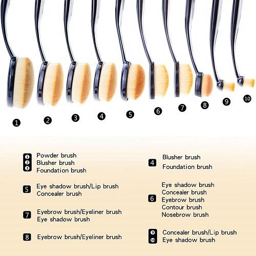 Start Makers, brochas para maquillaje oval brush