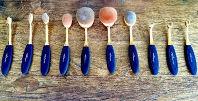 Brochas de maquillaje ovaladas toothbrush