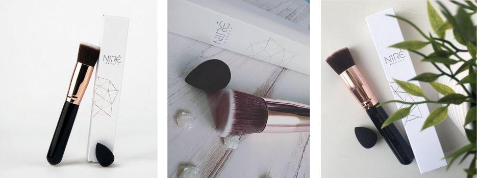 brochas maquillaje liquido nire
